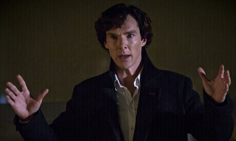 Benedict Cumberbatch as Sherlock Holmes in series three, episode three – His Last Vow.