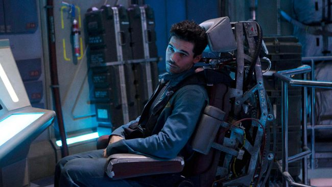 "THE EXPANSE -- ""Dulcinea"" Episode 101 -- Pictured: Steven Strait as Earther James Holden -- (Photo by: Rafy/Syfy)"