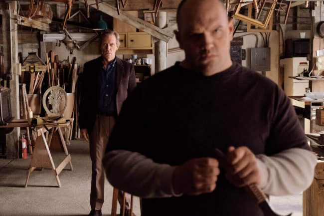 Ethan Suplee as D, Hugh Laurie as Eldon Chance - Chance_Season 1, Episode 3, Photo Credit: David Moir/Hulu Chance Hugh Laurie Ethan Suplee
