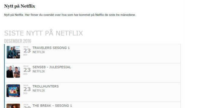 Nytt på Netflix
