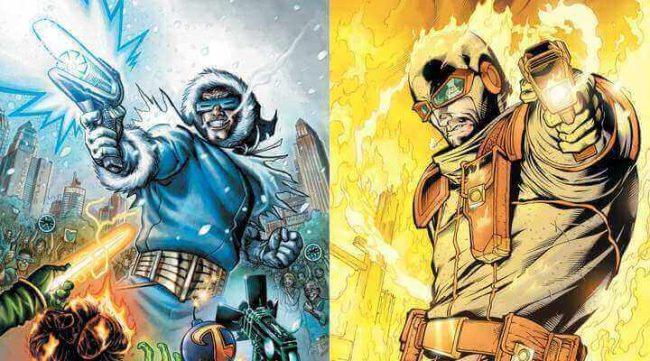 Captain Cold og Heatwave i DC Comics sin tegneserier. Foto: DC Comics