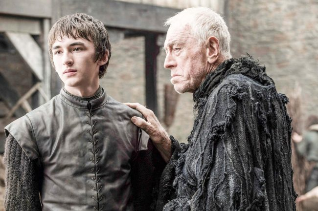 Isaac Hempstead-Wright som Bran Stark og Max von Sydow som the Three-Eyed Raven – foto Helen Sloan/HBO