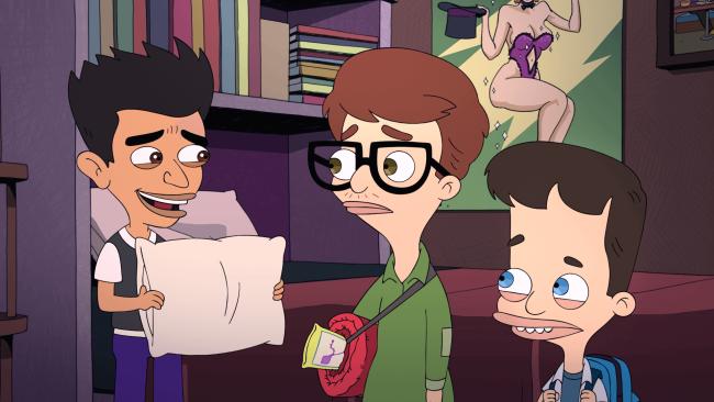 Hver episode av Big Mouth er veldig episodisk av seg, lar også serien små historier vokse seg til. Noe som vi ser med etlite møte Nick og Andrew har med en person i en tidlig episode i sesongen. Først virker bare dette som noe serien ville latt ligge, men istedenfor utvikler dette seg til å ha tydelige konsekvenser i en av de siste episodene av sesongen.