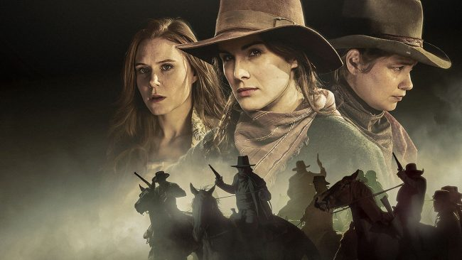 Godless Christiane Seidel, Michelle Dockery og Merritt Wever. Foto: Netflix