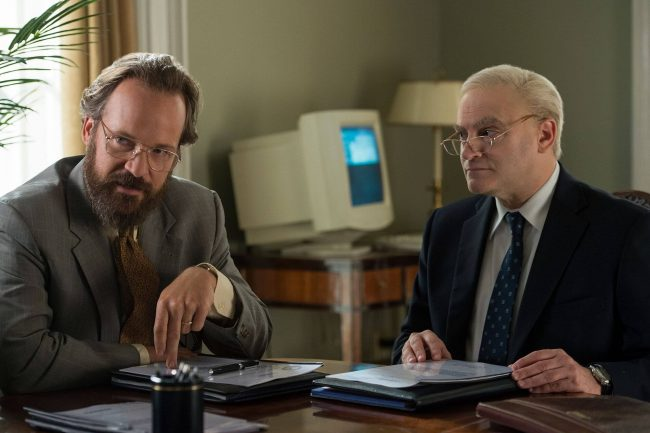 Peter Saarsgaard og Michael Sthulbarg i The Looming Tower. Foto:Legendary TV/Hulu