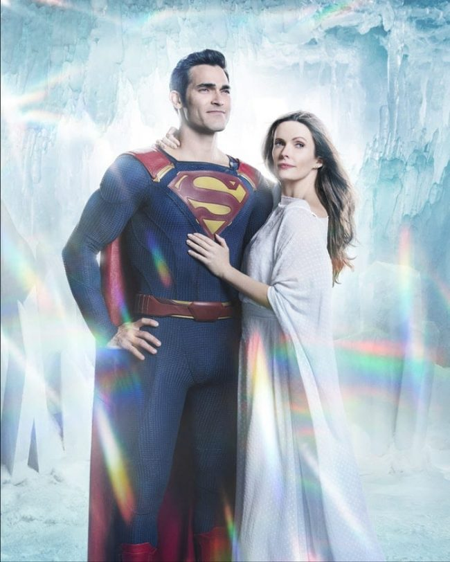 Superman og Lois Lane i 'Elseworld'-begivenheten. Foto: The CW.