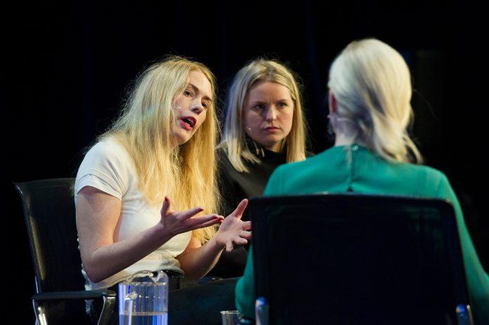 Julia Andem under Nordiske Mediedager i 2016. Foto: Thor Brødreskift / Nordiske Mediedager