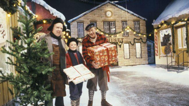 Jul i Skomakergata. Foto: NRK